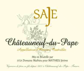 Domaine de Sade French Red Dom De Saje Chateauneuf-Du-Pape 2013