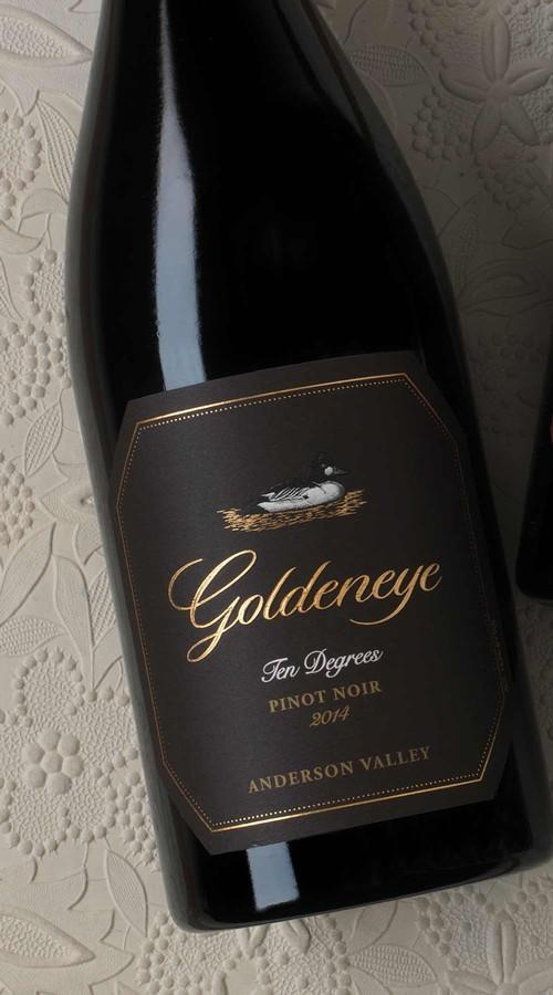 Goldeneye Pinot Noir 2014 Goldeneye Ten Degrees Anderson Valley Pinot Noir