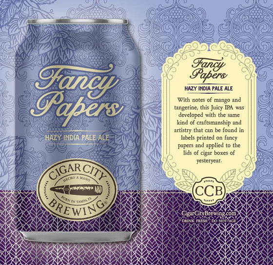 Gulf Distributing Beer Cigar City Brewing Fancy Papers Hazy IPA
