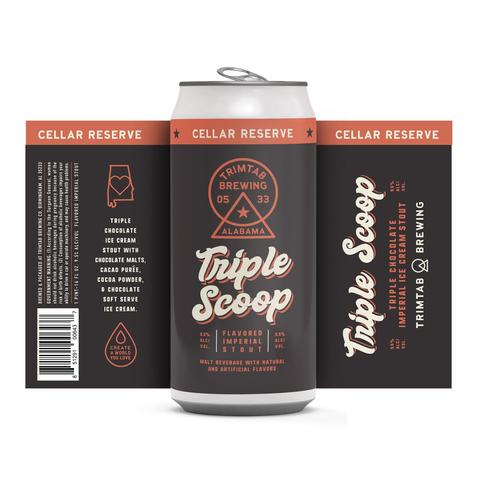 Gulf Distributing Beer Trim Tab Triple Scoop Imperial Stout