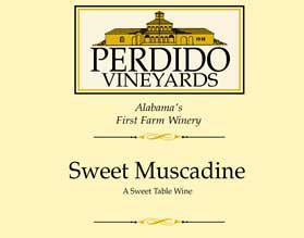 M & J Wines Muscadine Perdido Vineyards Sweet White Muscadine
