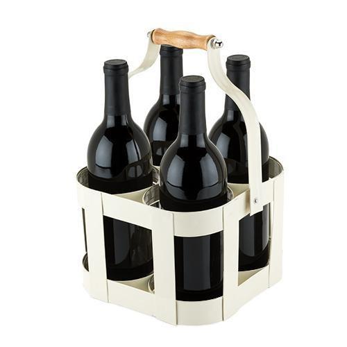 Southern Napa Fine Wine House Bottle Carrier Vintage 4 Bottle Carrier