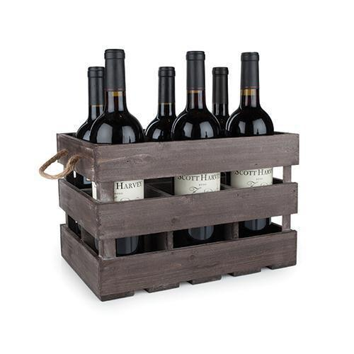 Southern Napa Fine Wine House Bottle Crate Wooden 6 Bottle Crate