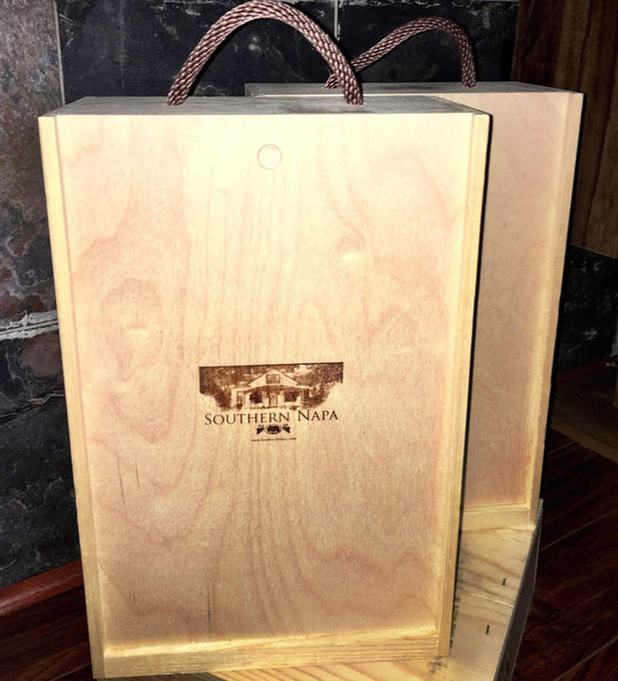 2 Bottle Wood Wine Crate Gift Box