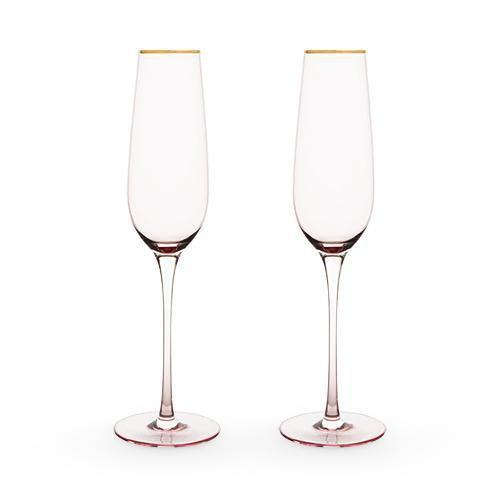 Southern Napa Fine Wine House Wine Glasses Rosè Crystal Champagne Flute Set