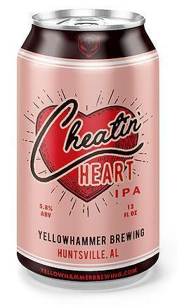 Yellowhammer Brewing (Huntsville, Alabama) Craft Beer YH Cheatin Heart 6pk Cans