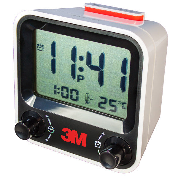 AQ-73  EASY SET ALARM CLOCK WITH THERMOMETER