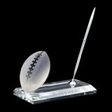 C-105 FO  CRYSTAL FOOTBALL PEN STAND SET