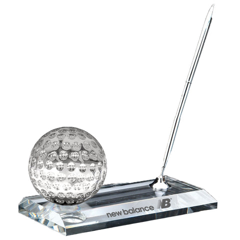 C-105 GO  CRYSTAL GOLF PEN STAND SET