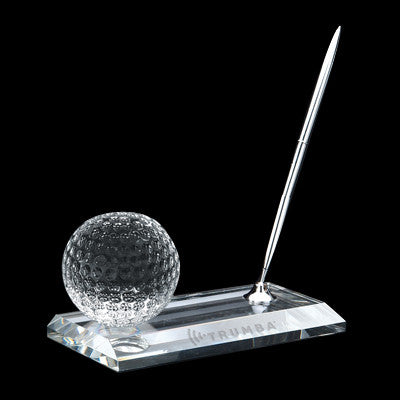 C-105GO  CRYSTAL GOLF PEN STAND SET