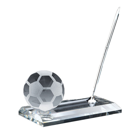 C-105 SO  CRYSTAL SOCCER PEN STAND SET