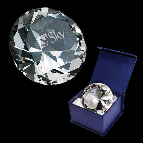 C-138  CRYSTAL DIAMOND PAPERWEIGHT (CLEAR)