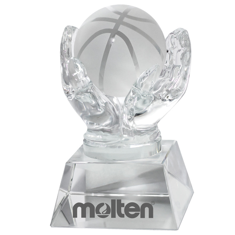 C-1392BK  CRYSTAL HANDS HOLDING BASKETBALL