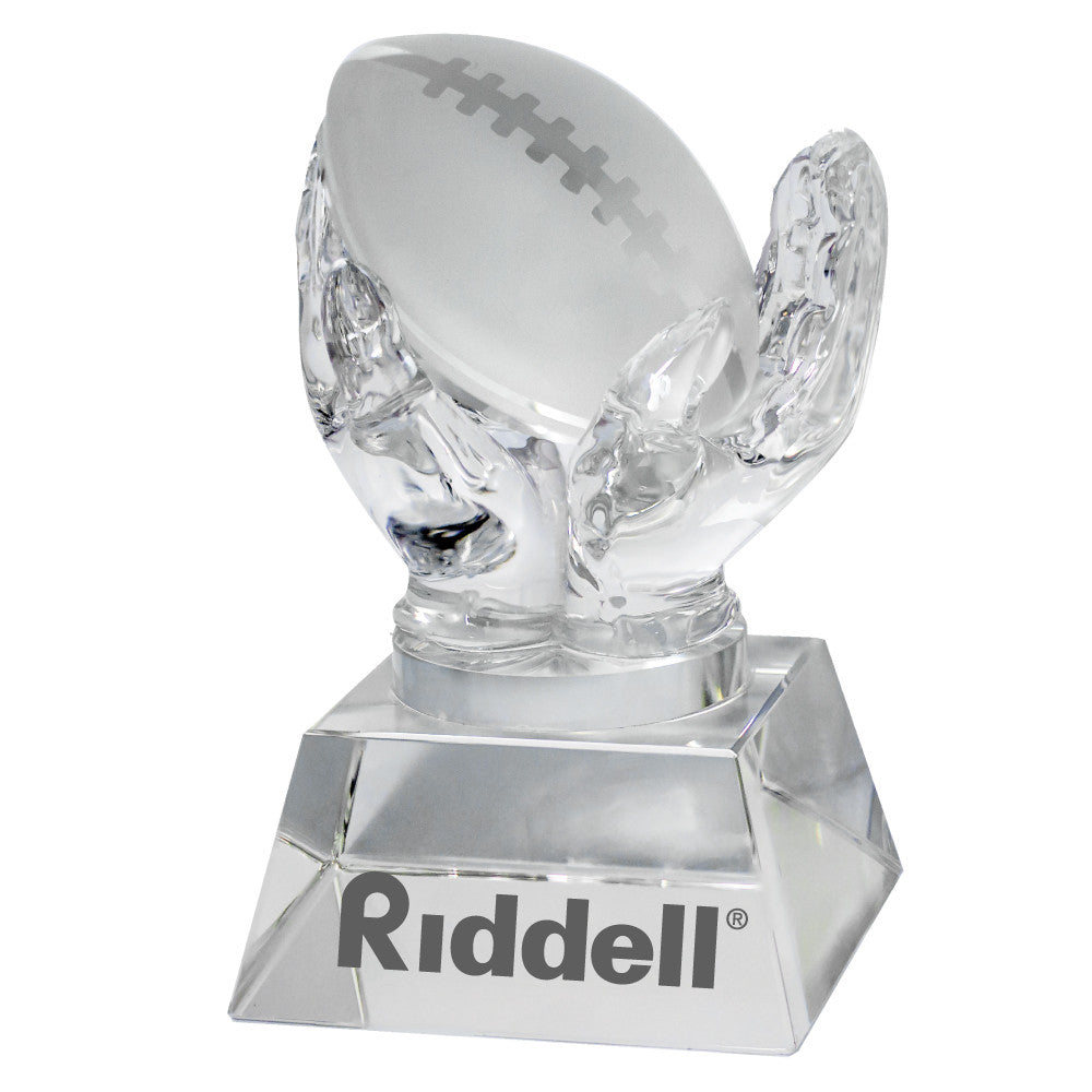 C-1392FO  CRYSTAL HANDS HOLDING FOOTBALL