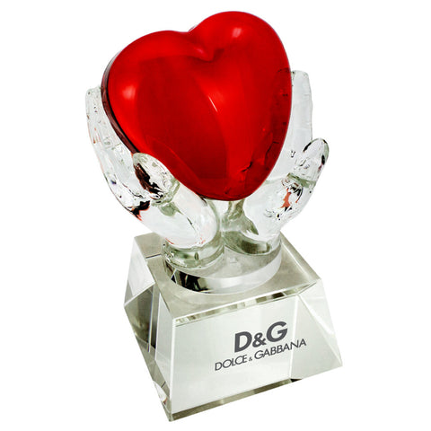 C-1392HT  CRYSTAL HANDS HOLDING HEART