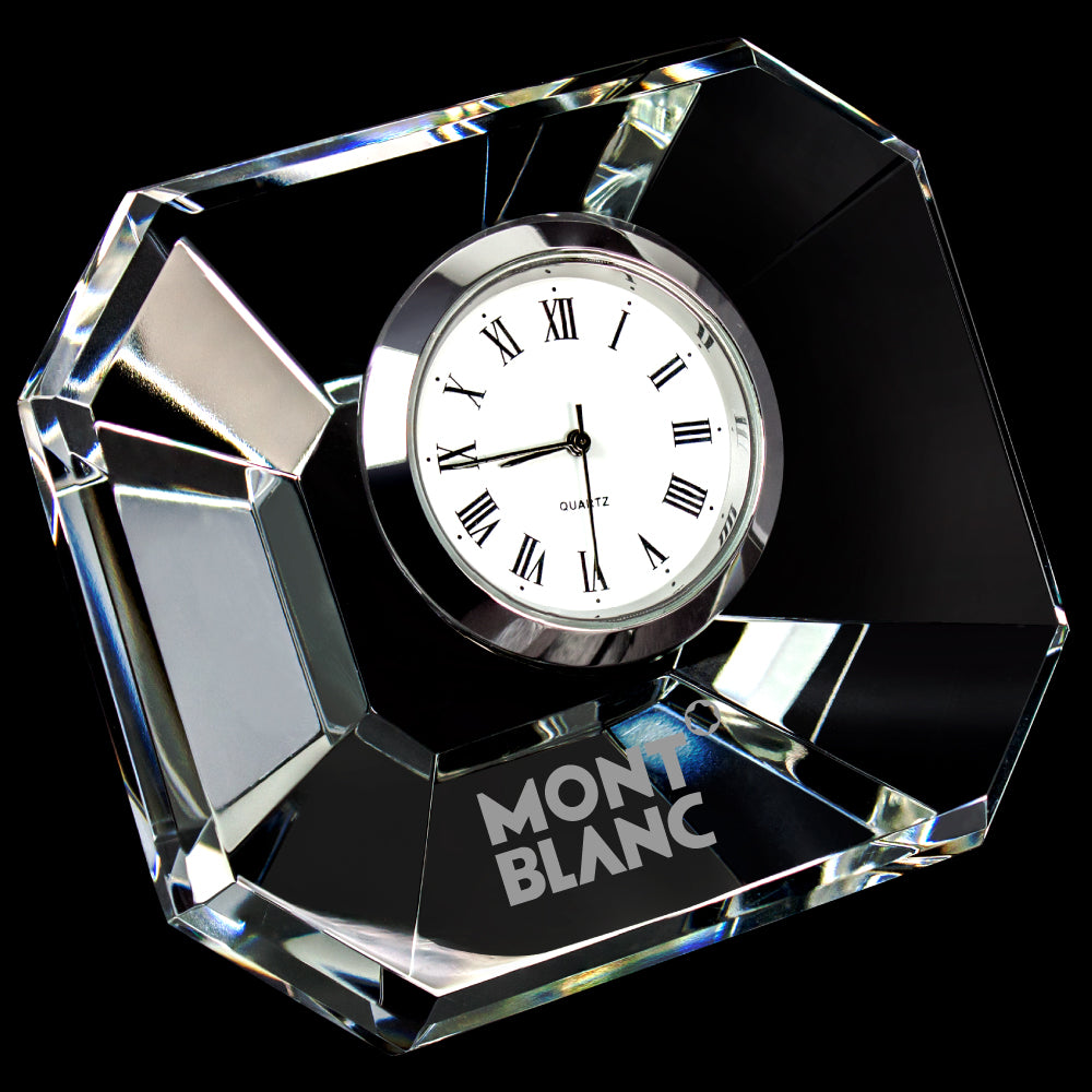 C-1787  MINI DESIGNER CRYSTAL RECTANGLE CLOCK