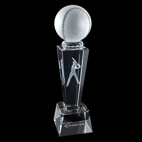 C-196 BA  3-D CRYSTAL SPORTS TROPHY-BASEBALL