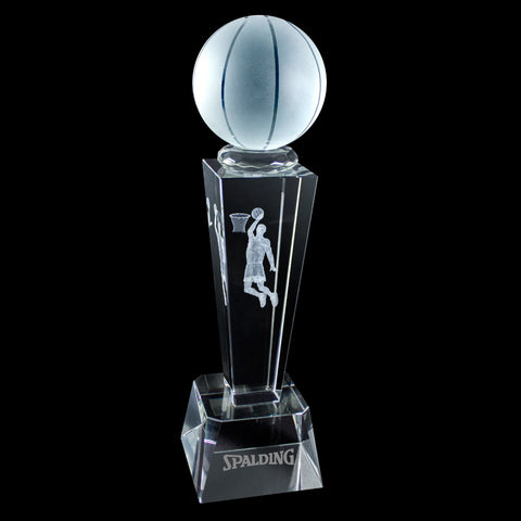 C-196BK  3-D CRYSTAL SPORTS TROPHY-BASKETBALL
