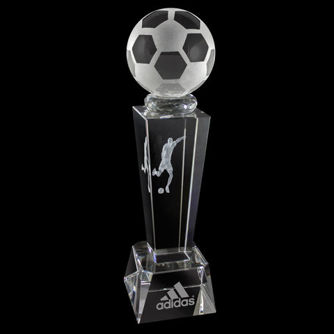 C-196SO  3-D CRYSTAL SPORTS TROPHY-SOCCER