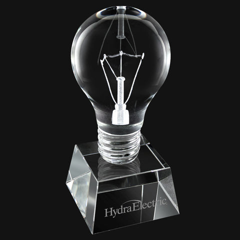 C-2045S  CRYSTAL LIGHT BULB SHORT TROPHY