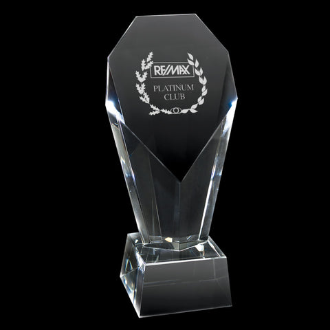 C-347L  CRYSTAL TROPHY (Large Heart)