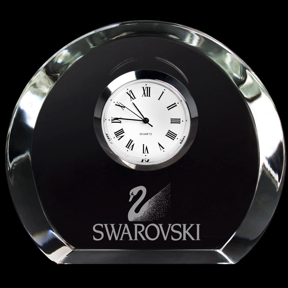 C-3619  MINI DESIGNER SMOOTH ROUND CRYSTAL CLOCK