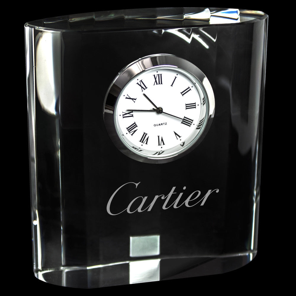 C-3659  MINI DESIGNER CRYSTAL CLOCK RECTANGLE