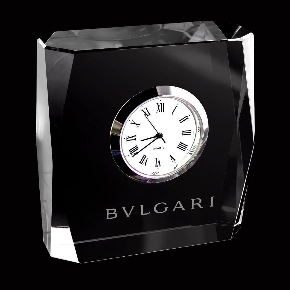 C-3680  MINI DESIGNER CRYSTAL SQUARE CLOCK