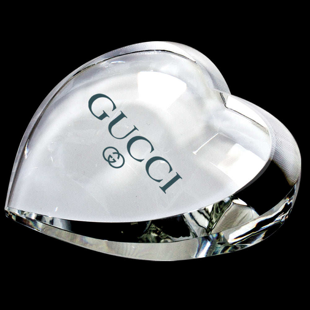 C-380  CRYSTAL HEART PAPERWEIGHT