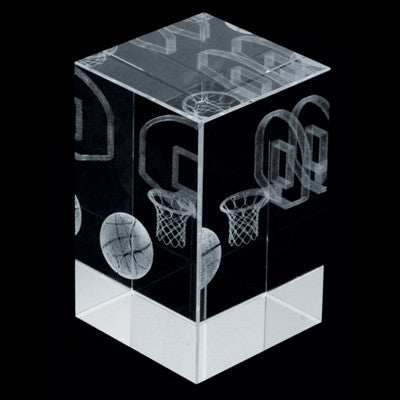 C-390BK  3D CRYSTAL BASKETBALL BLOCK