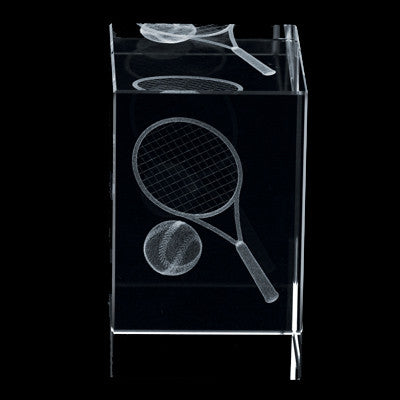 C-390TN  3D CRYSTAL TENNIS BLOCK