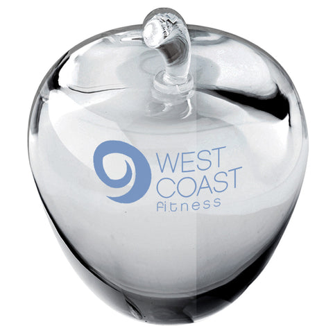C-512  Crystal Apple Paperweight