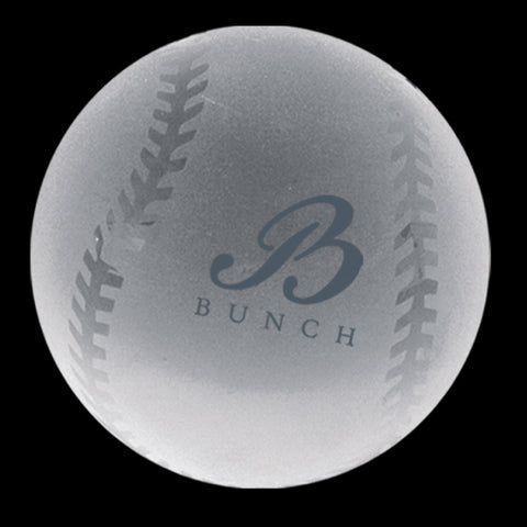 C-600 BA  CRYSTAL BASEBALL PAPERWEIGHT
