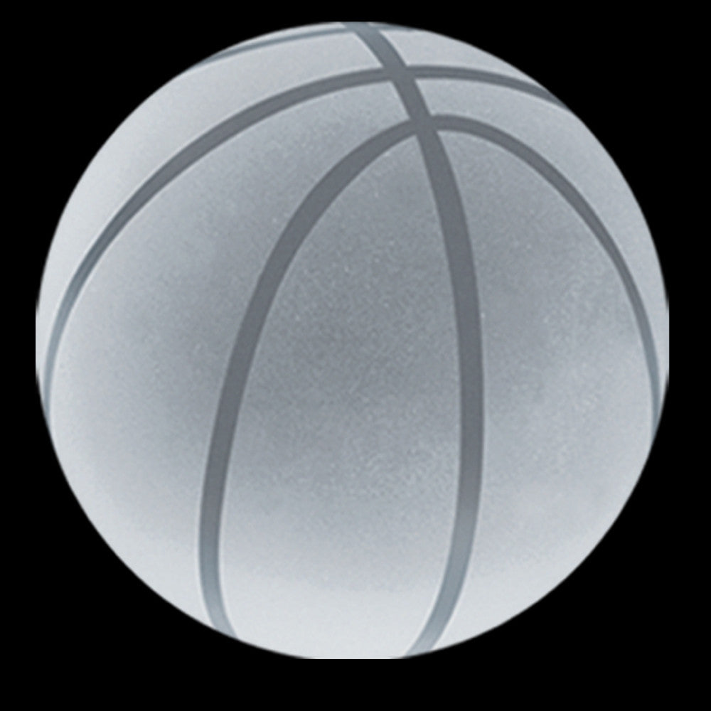 C-600 BK  CRYSTAL BASKETBALL PAPERWEIGHT