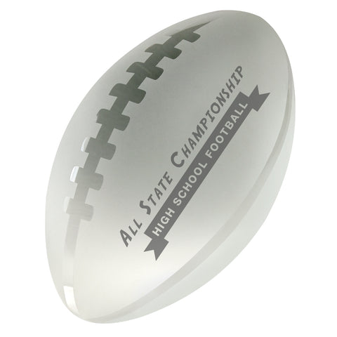 C-600 FO  CRYSTAL FOOTBALL PAPERWEIGHT