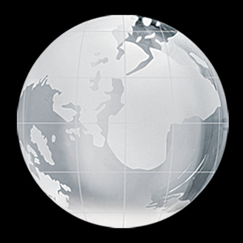 C-600 GL  CRYSTAL GLOBE PAPERWEIGHT