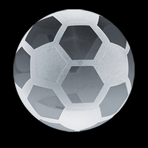 C-600 SO  CRYSTAL SOCCER PAPERWEIGHT