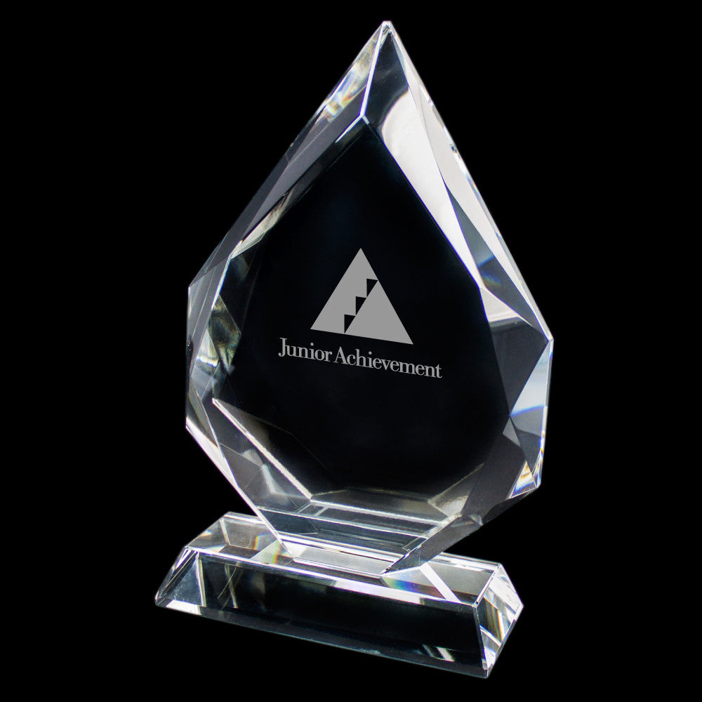 C-647L  LARGE WIDE CRYSTAL AWARD