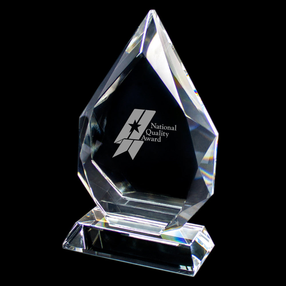 C-647M  SMALL WIDE CRYSTAL AWARD