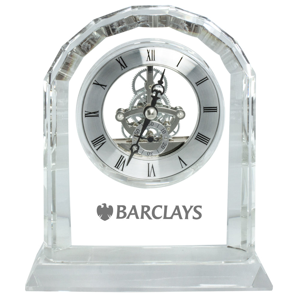 C-8505  JUMBO CRYSTAL GEAR CLOCK