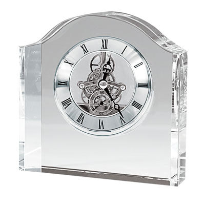 C-8509  JUMBO CRYSTAL GEAR CLOCK