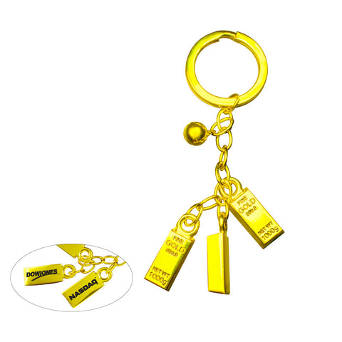 GB-500  GOLD BAR BELL KEYCHAIN