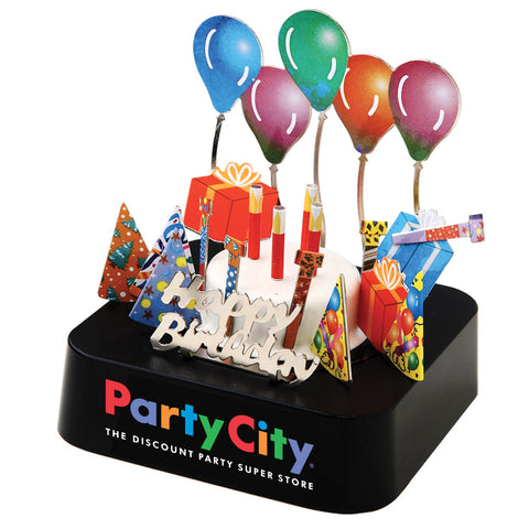 MI-0108BP  BIRTHDAY PARTY MAGNETIC SCULPTURE BLOCK