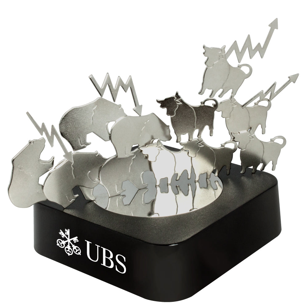 MI-0108BU  BULL & BEAR MAGNETIC SCULPTURE BLOCK