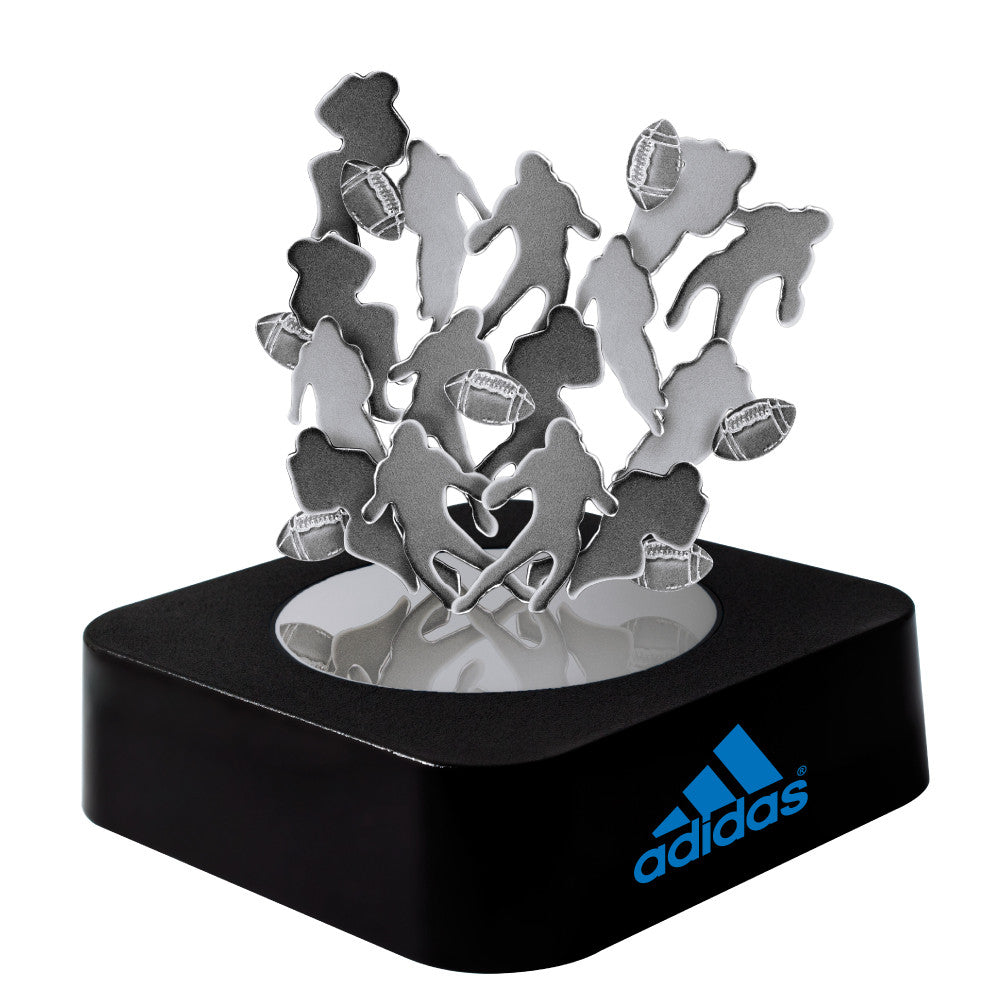 MI-0108FO  FOOTBALL MAGNETIC SCULPTURE BLOCK