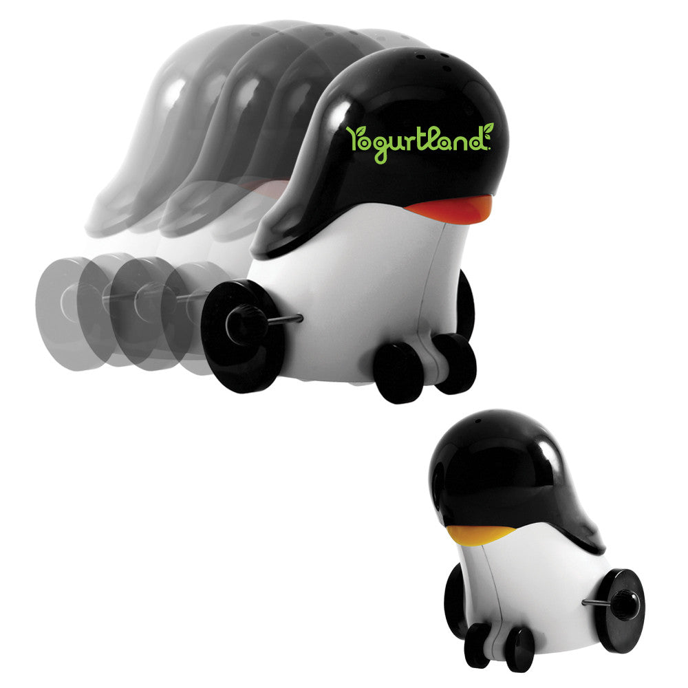 MI-011  ROLLING PENGUIN SALT & PEPPER SHAKER