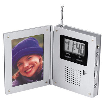 MI-0182  AM/FM RADIO ALARM CLOCK W/ PICTURE FRAME