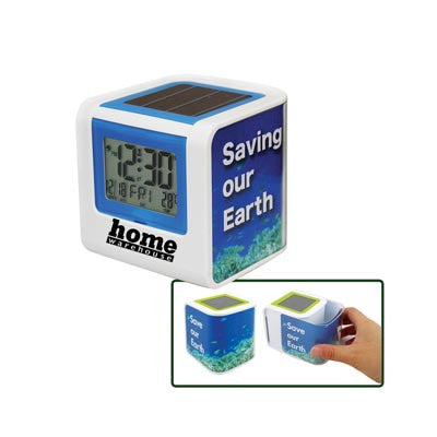 MI-0355  SOLAR POWERED CLOCK WITH PHOTO FRAME
