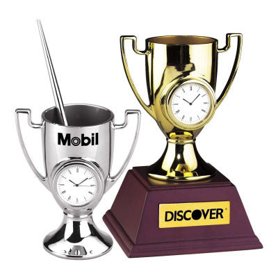 MI-07051  METAL TROPHY CLOCK