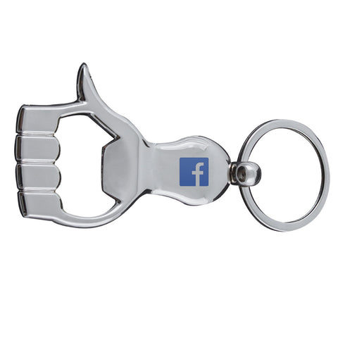 MI-1035  THUMBS UP BOTTLE OPENER KEYCHAIN